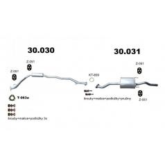 Kompletný výfuk Honda City 1.4i-16V, od r. 2008, 73kW