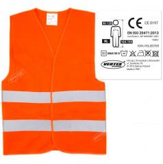Vesta výstražná oranžová EN 20471: 2013 veľ. XL
