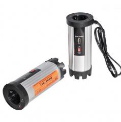 Adaptér napätia z 12V na 220V - 150W s USB 1A
