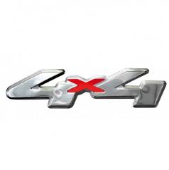 Plastický znak 4X4 alu prevedenie s podlepením 120x30 mm