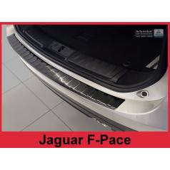 Nerez kryt-černá ochrana prahu zadního nárazníku Jaguar F-Pace 2016+
