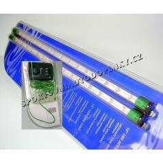 Neón do interiéra 12V zelený 2ks regulovateľný (2x38 cm)