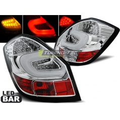 Škoda Fabia 2 2007-06.14 zadné lampy chrome LED bar (LDSK05)