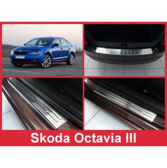 Sada nerez autodoplnkov 5 ks Škoda Octavia III