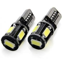 Žiarovky 5SMD 5730 T10 (W5W) 12V biela CAN-BUS