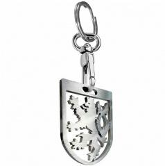 Prívesok na kľúče - kľúčenka ČR lev kovový strieborný
