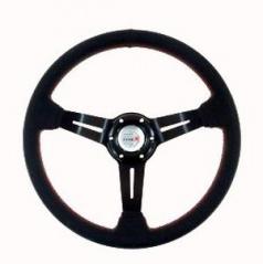 Športový volant WRC umelá koža čierny 350 mm