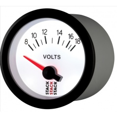 Stack elektronický budík voltmeter 52 mm ST3266