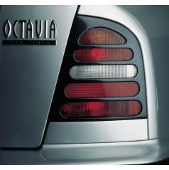 Kryty zadných svetiel Milotec (masky) - ABS karbon, Škoda Octavia Limousine