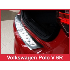 Nerez kryt ochrana prahu zadného nárazníka Volkswagen Polo V 6R 2009-14