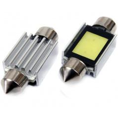 1 LED EXTRA COB3 žiarovky sulfit biele 39 mm s odporom (CANBUS) - 2 ks