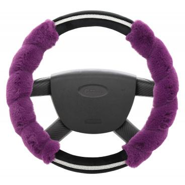 Potah volantu fialový chlup 37-39 cm